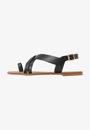 SERIOUS - T-bar sandals - black