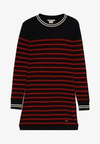 Scotch & Soda - DRESS IN YARN DYED STRIPE - Jumper dress - red/black - 3