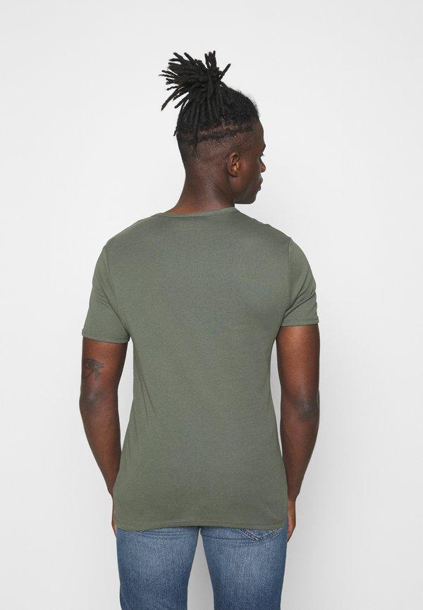 G-Star BASE 2 PACK - T-shirt basic - wild rovic/ciemnozielony Odzież Męska XWYL