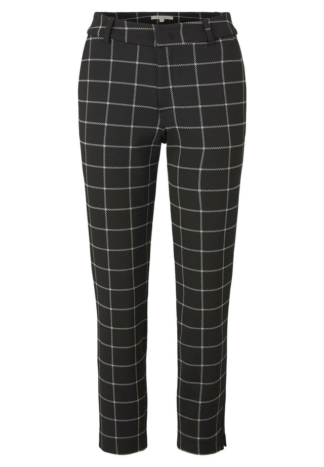 HOSEN & CHINO CIGARETTE HOSE IN ANKLE-LÄNGE - Chino - black white large check