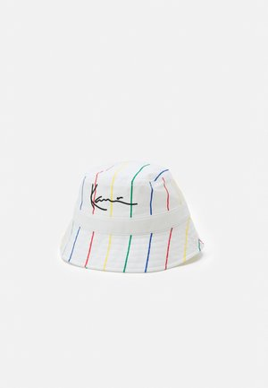 SIGNATURE PINSTRIPE BUCKET HAT UNISEX - Hut - white