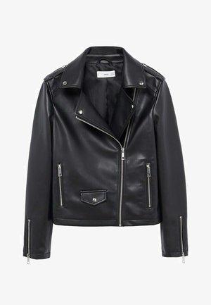 LIZ - Faux leather jacket - černá
