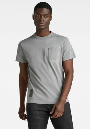 STITCH DETAIL POCKET - T-shirt con stampa - charcoal