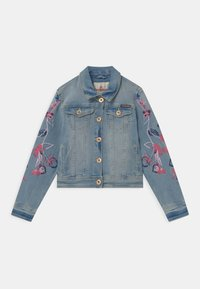 Vingino - EMBROIDERED FLOWERS - Denim jacket - light indigo - 0