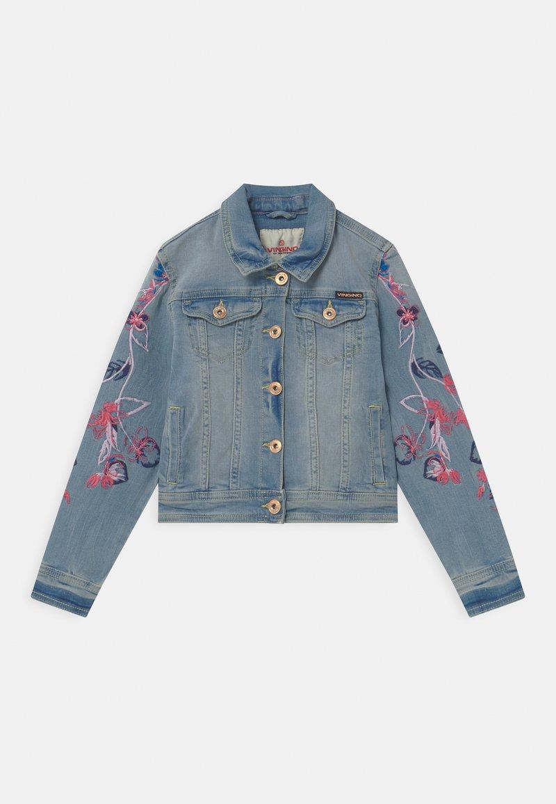 Vingino - EMBROIDERED FLOWERS - Denim jacket - light indigo
