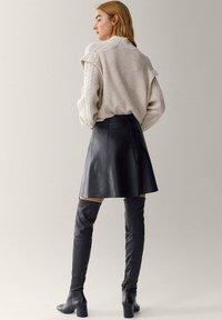 Massimo Dutti - A-line skirt - black - 1