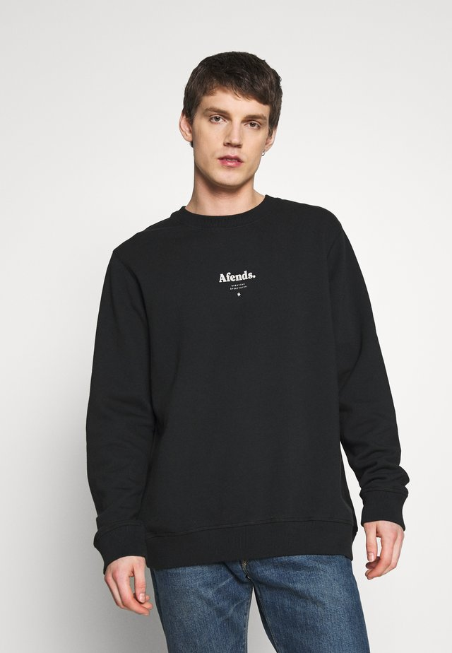 DISTORTED CREW NECK - Sweater - black