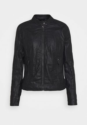 JACKET - Faux leather jacket - deep black