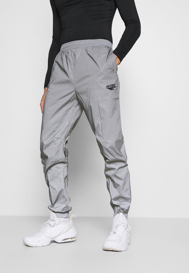Hi-Tec - GRAHAM REFLECTIVE TRACK PANTS - Tracksuit bottoms - silver