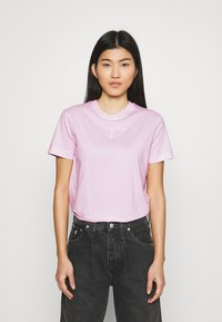 Calvin Klein Jeans - MONOGRAM LOGO TEE - T-shirt basique - pearly pink/quiet grey - 0