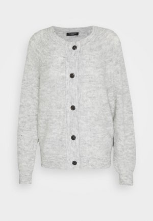 SLFLULU - Strikjakke /Cardigans - light grey melange