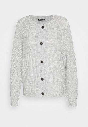 SLFLULU SHORT CARDIGAN - Cardigan - light grey melange