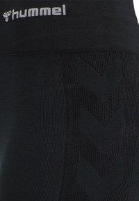 Hummel - Tights - black melange - 8