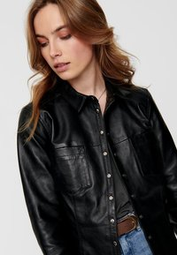 ONLY - Giacca di pelle - black - 3