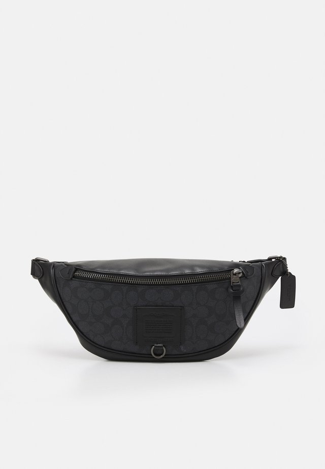 RIVINGTON BELT BAG IN SIGNATURE UNISEX - Ledvinka - charcoal