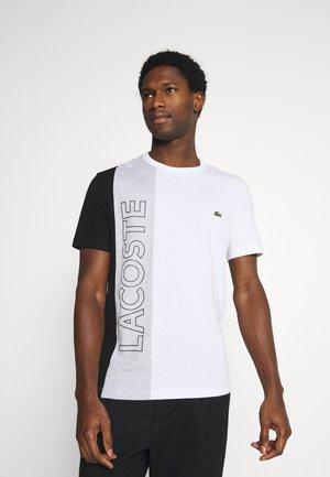 Print T-shirt - blanc/argent/chine noir