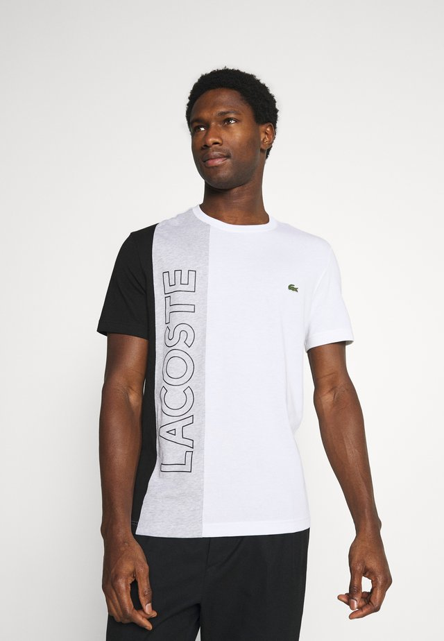 T-shirt imprimé - blanc/argent/chine noir