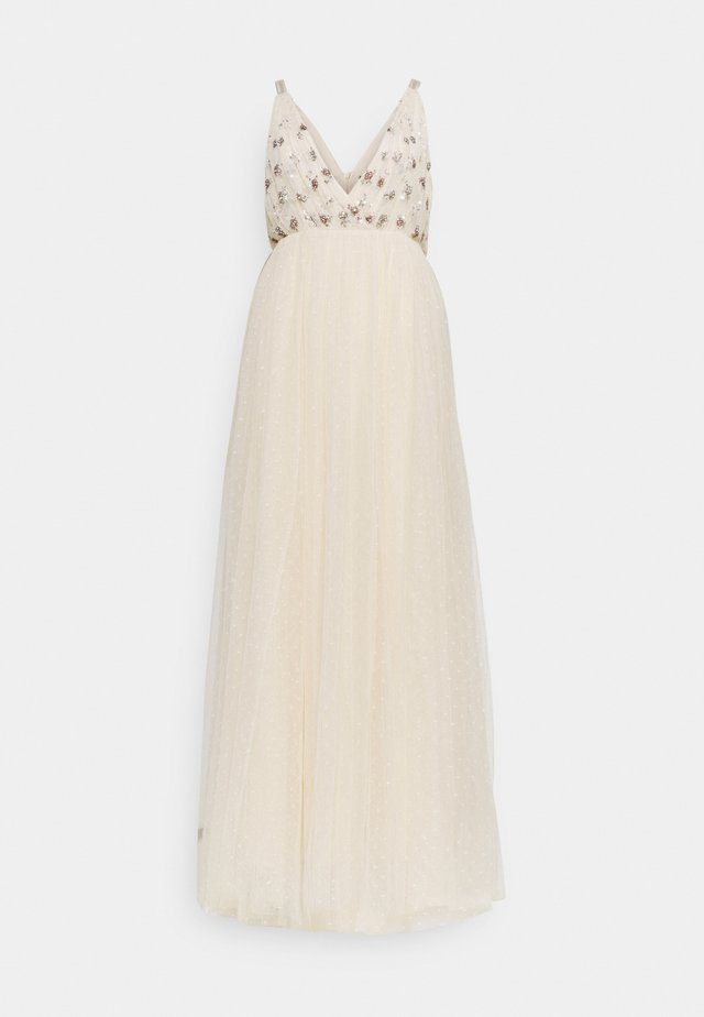 NEVE EMBELLISHED BODICE MAXI DRESS - Robe de cocktail - champagne