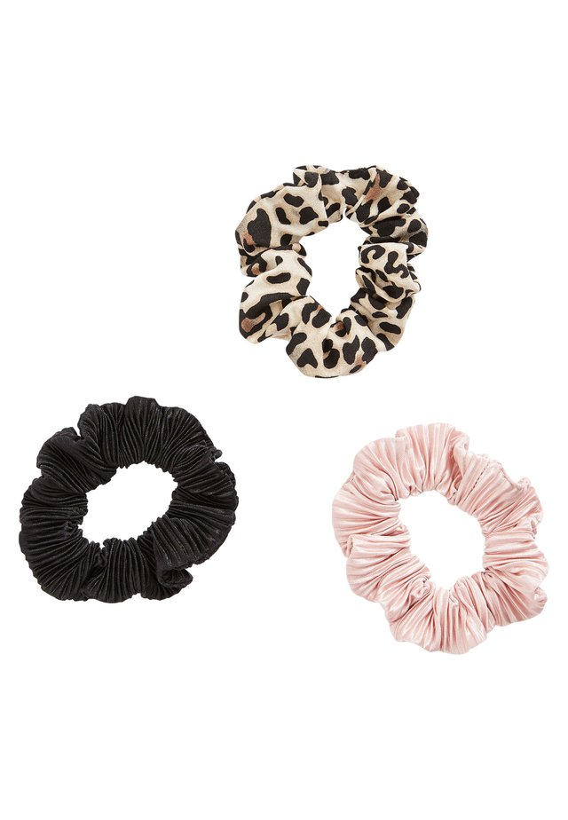 LEOPARD/PINK/BLACK SCRUNCHIES THREE PACK - Hair styling accessory - multi-coloured