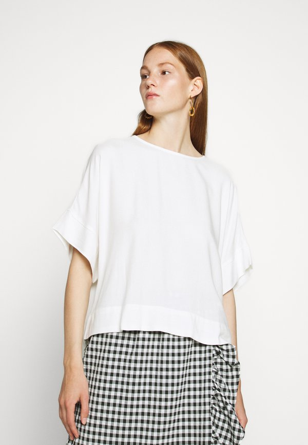 Bruuns Bazaar HALAH NINI BLOUSE - Bluzka - snow white/biały XCGT
