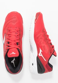 Mizuno - WAVE 5 - Handball shoes - tomato/white/black - 1