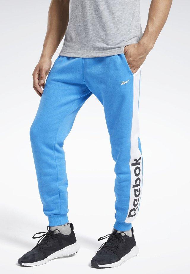 TRAINING ESSENTIALS LINEAR LOGO JOGGERS - Pantalon de survêtement - blue