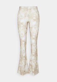 Flared jeans - earthy abstract