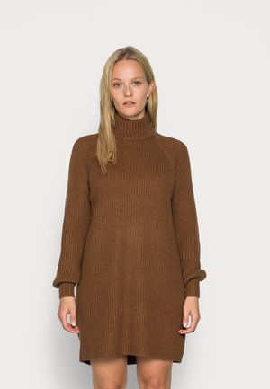 TIMMY  DRESS - Gebreide jurk - partridge
