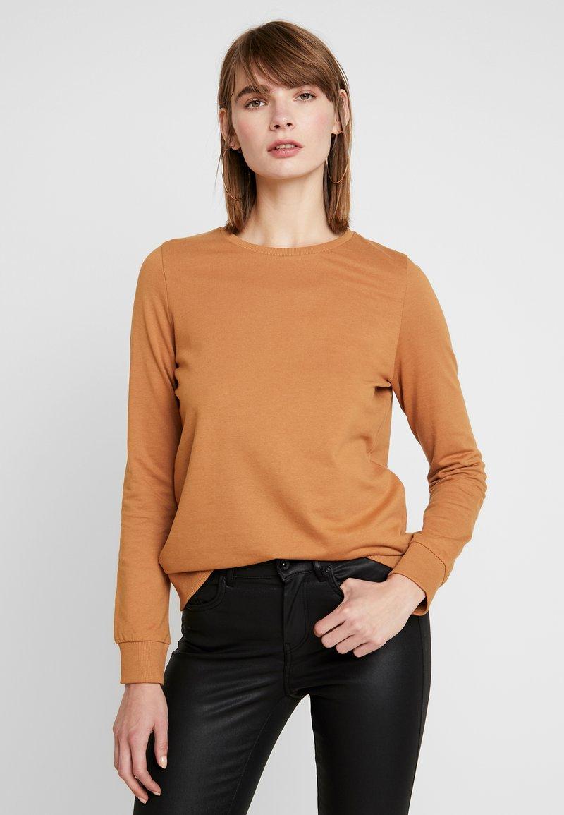 Noisy May - NMPANA SOLID - Sweatshirt - brown sugar