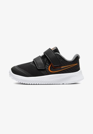 STAR RUNNER 2 UNISEX - Hardloopschoenen neutraal - black/white/light solar flare heather/total orange