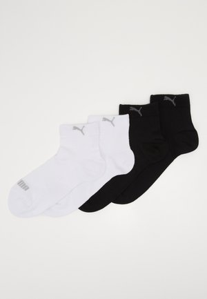 QUARTER WOMEN 4 PACK - Socks - black/white