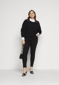 Pieces Curve - PCSUNNY NECK - Jumper - black - 1