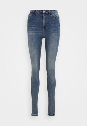 VMSOPHIA TAP TALL SKINNY  - Jeans Skinny Fit - medium blue denim