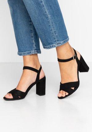 SERENA UPDATE - Sandály na vysokém podpatku - black