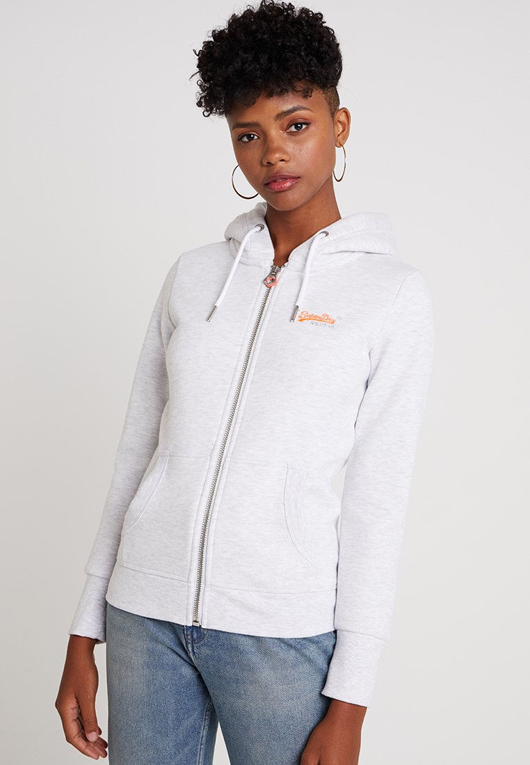 Superdry - LABEL ZIPHOOD - Zip-up hoodie - ice marl