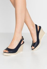 Dune London WIDE FIT - WIDE FIT KNOX  - High heeled sandals - navy - 0
