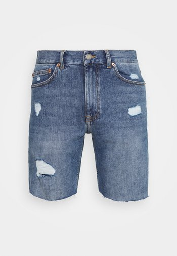 CLARK - Shorts di jeans - creek mid blue