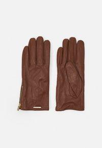 ALDO - RHELIAN - Gloves - cognac/gold-coloured - 0