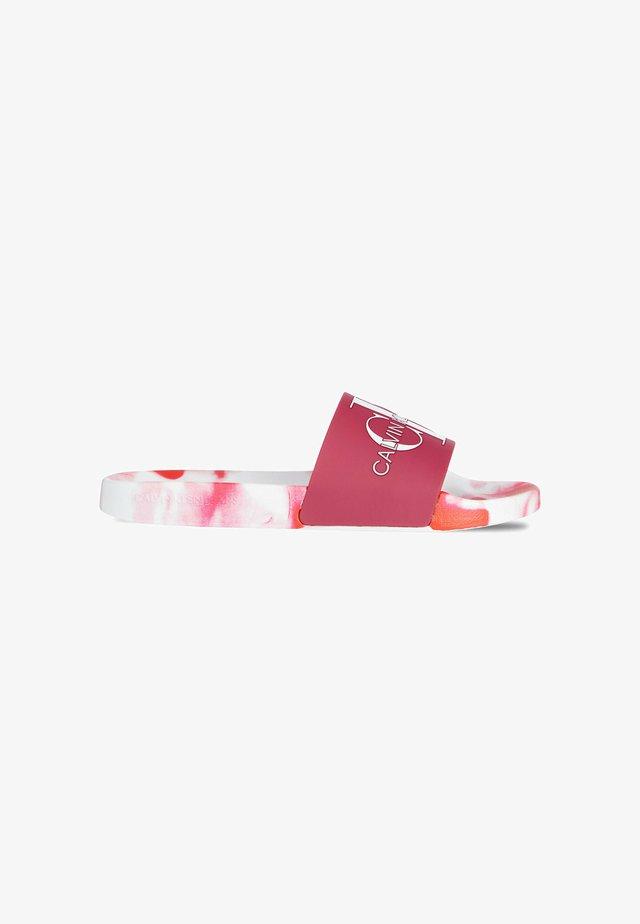 SLIDE MONOGRAM MARBLE TPU - Ciabattine - marble pink