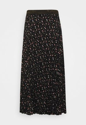SKIRT PLISSE LONG PAISLEY - Maxi skirt - black