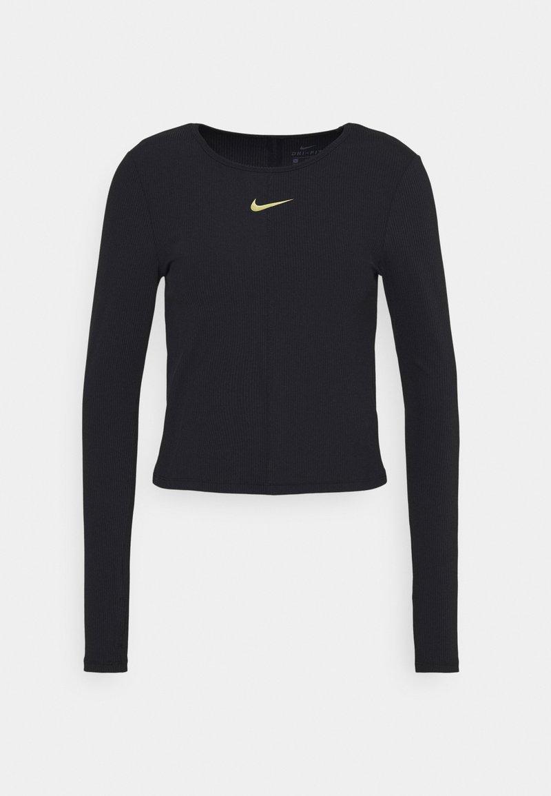 Nike Performance - Sports shirt - black/metallic gold