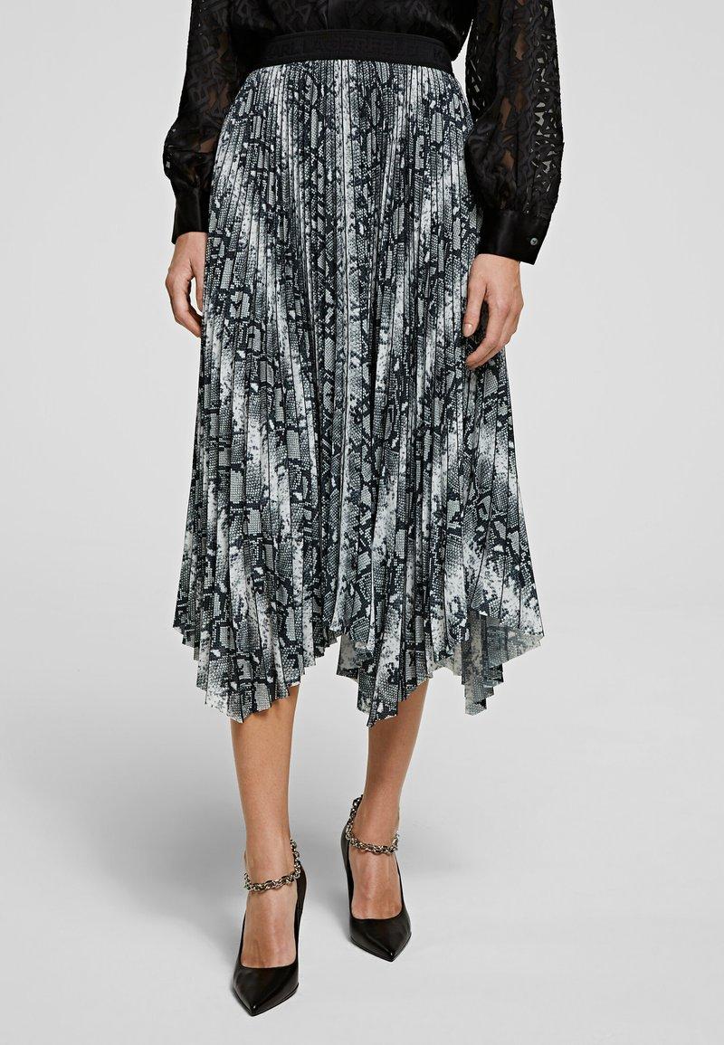 KARL LAGERFELD - A-line skirt - p snake print