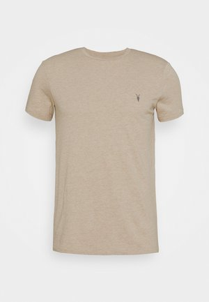 TONIC CREW - Basic T-shirt - pewter grey marl
