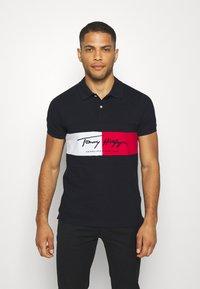 Tommy Hilfiger - AUTOGRAPH FLAG SLIM FIT - Polo shirt - blue - 0