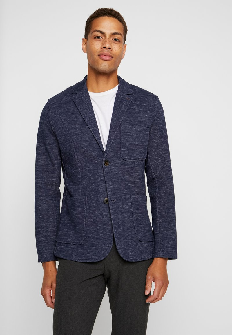 Jack & Jones PREMIUM - JPRSHOT SLIM FIT - Blazer jacket - navy blazer/melange