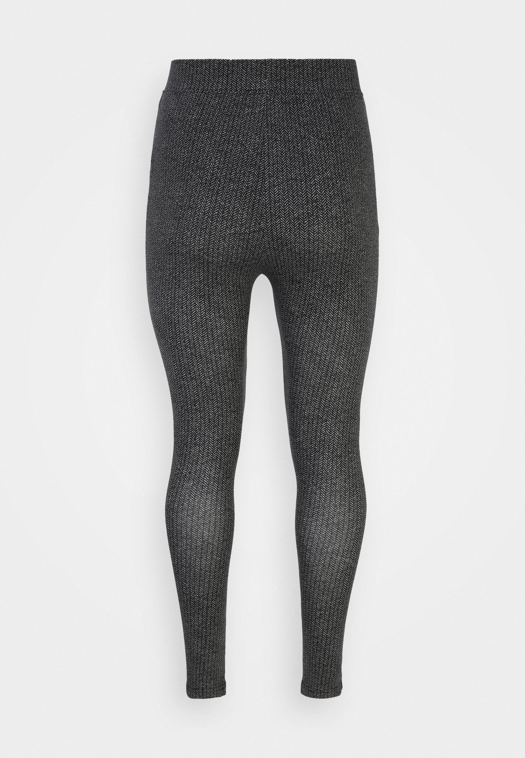 Damer HIGH WAISTED HERRINGBONE PRINTED - Leggings