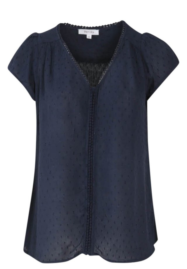 MIT STICKEREI - Blouse - marine