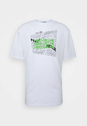 OVERSIZED WITH FRONT GRAPHIC  UNISEX - T-shirt med print - white