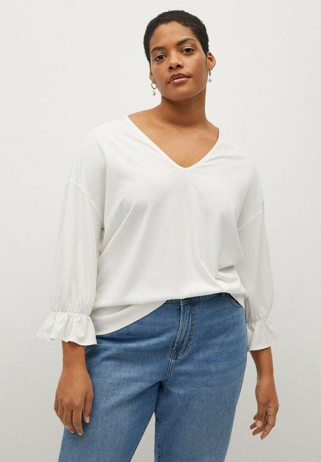 SABRINA - T-shirt à manches longues - cremeweiß