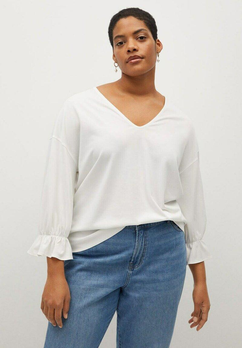 Violeta by Mango - SABRINA - Long sleeved top - cremeweiß